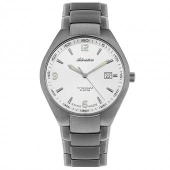 Швейцарские Титановые наручные часы ADRIATICA A1069.4153Q