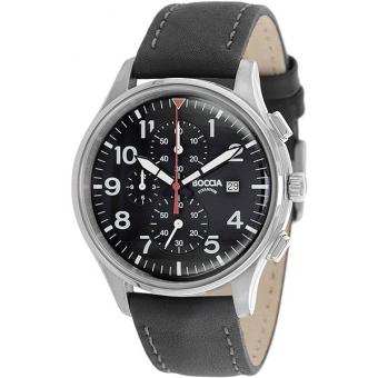 Титановые наручные часы Boccia Titanium 3756-04 с хронографом