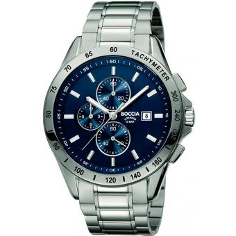 Титановые наручные часы Boccia Titanium 3751-01 с хронографом