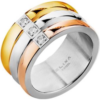 Стальное кольцо Elixa EL126-1760 с кристаллами