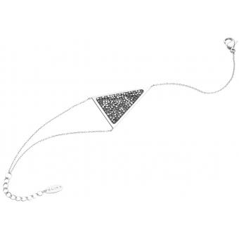 Стальной браслет цепь Elixa EL128-9111 с кристаллами