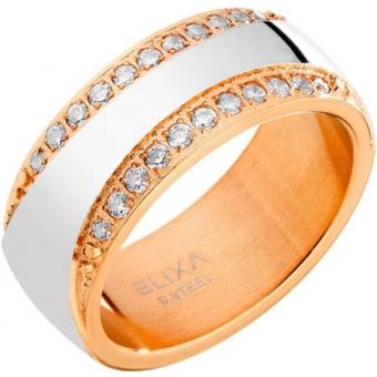 Стальное кольцо Elixa EL129-1911 с кристаллами