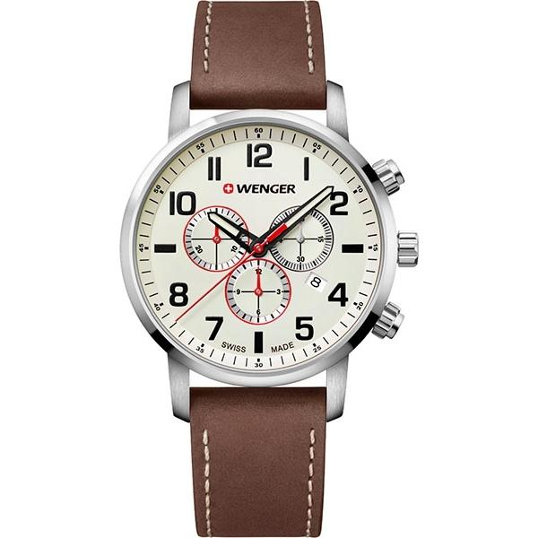 Швейцарские наручные часы Wenger 01.1543.105 с хронографом