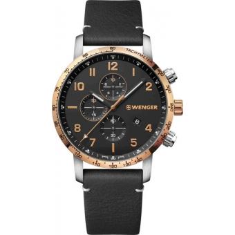 Швейцарские наручные часы Wenger 01.1543.111 с хронографом